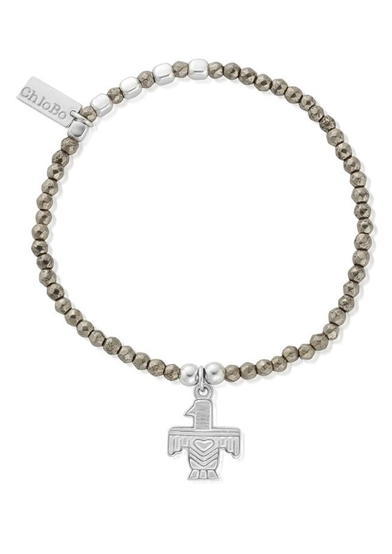 ChloBo Sun Dance Pyrite Bracelet with Eagle Charm - Silver main image
