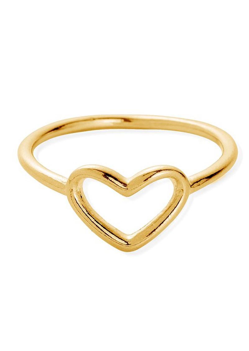 ChloBo SUN DANCE CHERISH HEART RING - GOLD main image