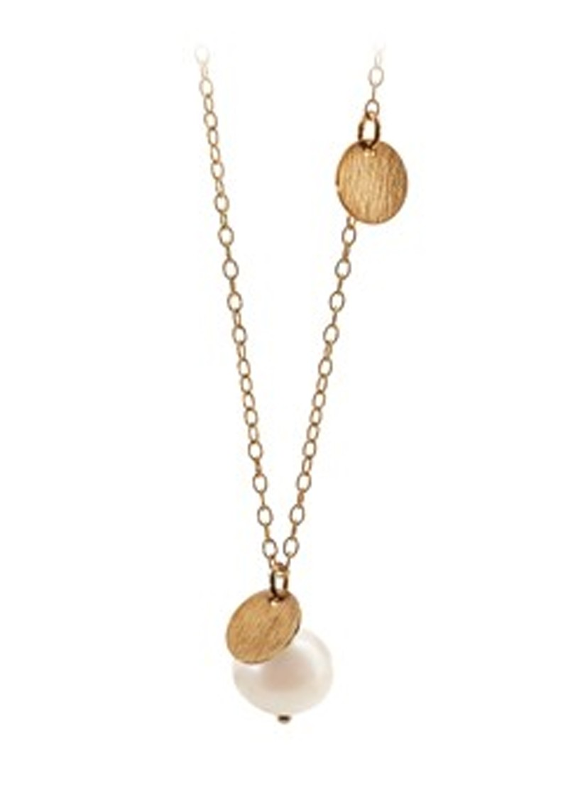 PERNILLE CORYDON Fresh Water Coin Necklace - Gold main image