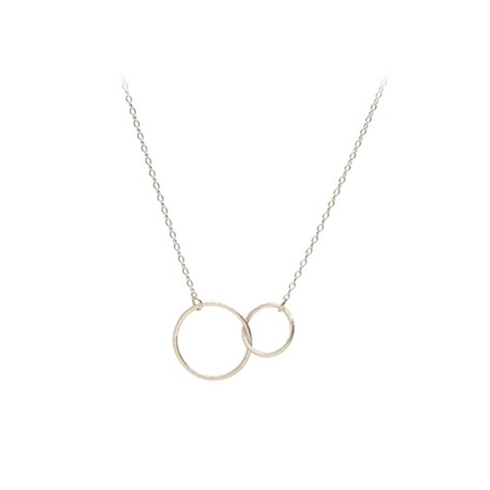 Double Plain Necklace - Silver