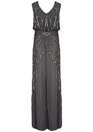 ADRIANNAPAPELL Fully Beaded Blouson Gown - Navy