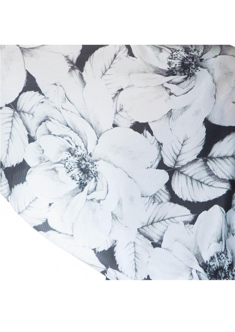 NOOKI Rosie Silk Cape - Black & White main image