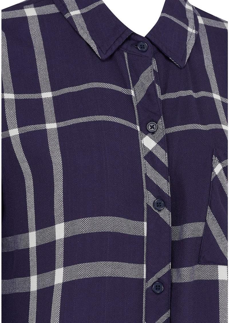 Rails Hunter Shirt - Cadet & White main image