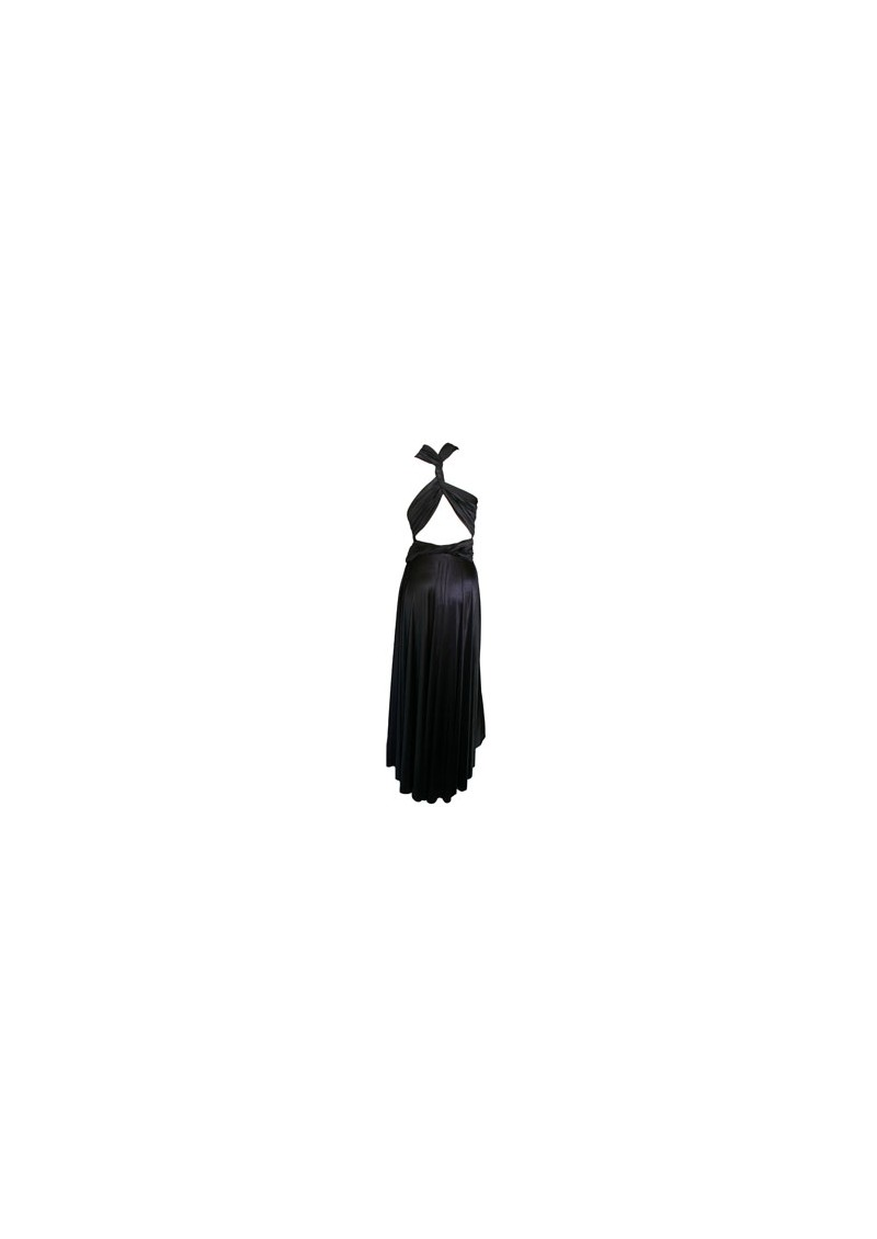 Butter By Nadia Long Satin Ball Gown - Black main image