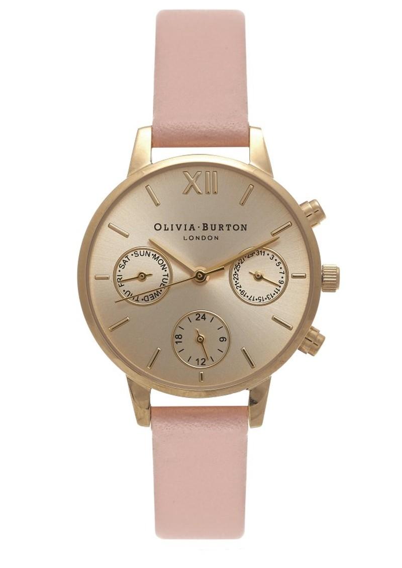 Olivia Burton Midi Dial Chrono Detail Watch - Dusty Pink & Gold main image