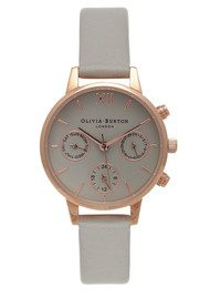 Olivia Burton Midi Dial Chrono Detail Watch - Grey & Rose Gold