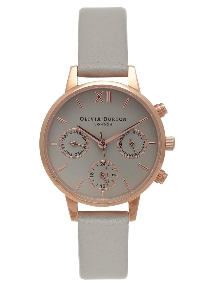 Olivia Burton Midi Dial Chrono Detail Watch - Grey & Rose Gold main image