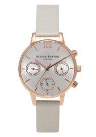 Olivia Burton Midi Dial Chrono Detail Watch - Mink & Rose Gold