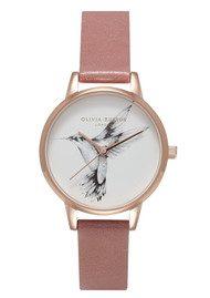 Olivia Burton Animal Motif Hummingbird Watch - Rose & Rose Gold