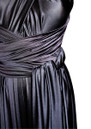 Long Satin Ball Gown - Black additional image