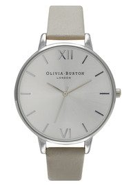 Olivia Burton Big Dial Watch - Grey & Silver
