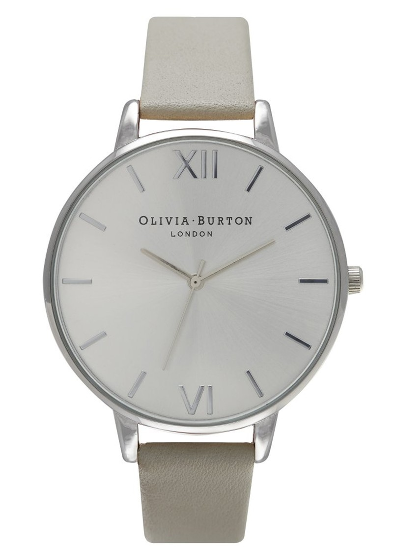 Olivia Burton Big Dial Watch - Grey & Silver main image