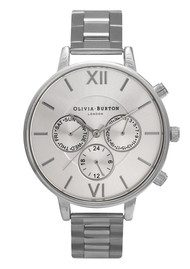 Olivia Burton Chrono Detail Silver Bracelet Watch - Silver