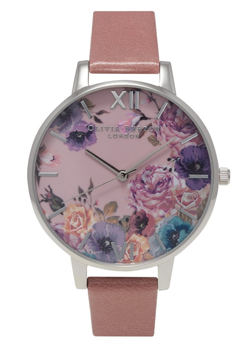 Olivia Burton Enchanted Garden Watch - Rose & Silver main image
