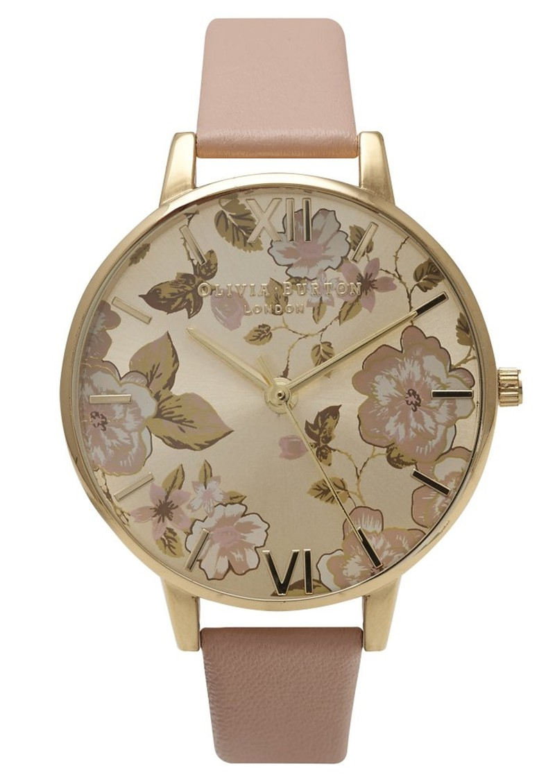 05f0abc44af3a Olivia Burton Parlour Big Dial Watch - Dusty Pink   Gold main image ...