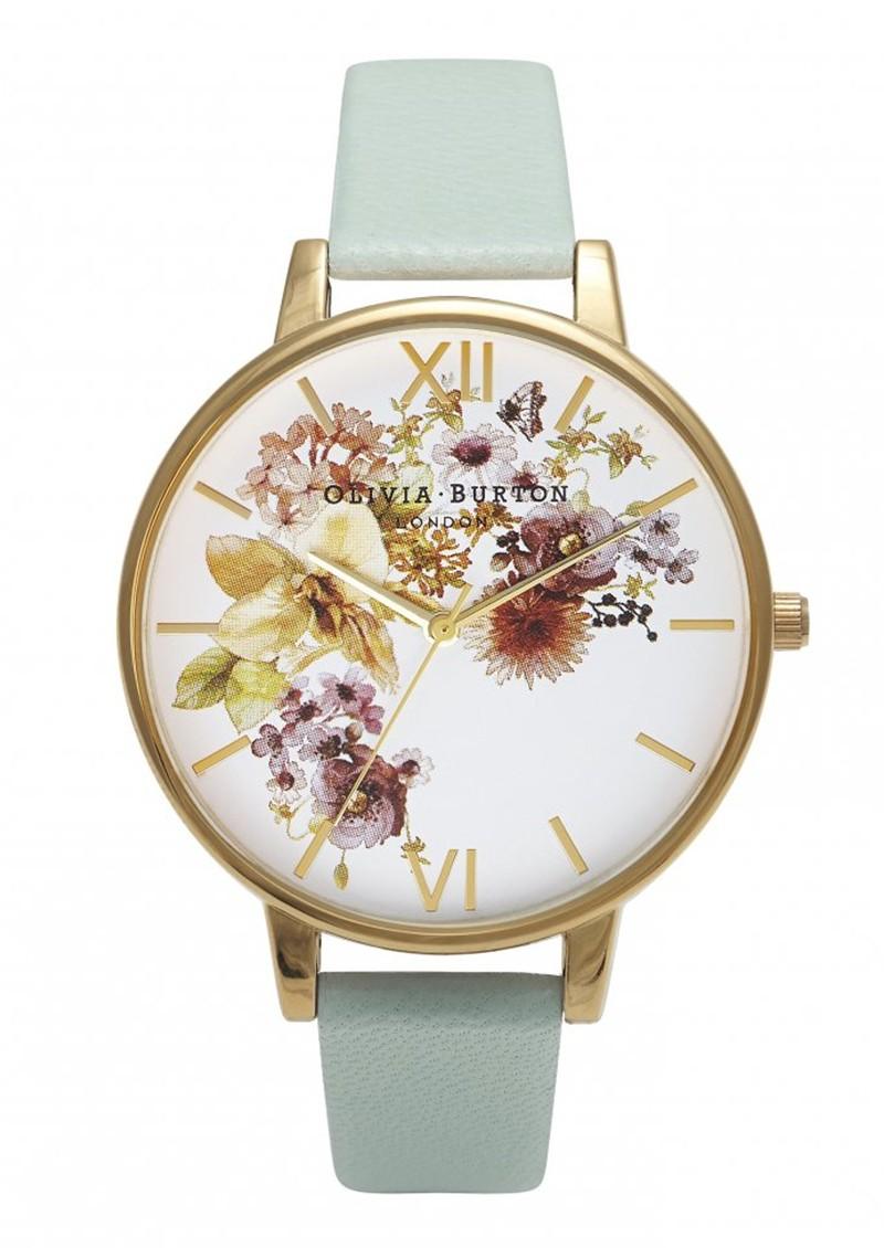 Olivia Burton Flower Show Watch - Mint & Gold main image