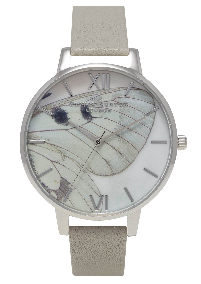 Olivia Burton Woodland Multi Butterfly Wing Watch - Grey & Silver main image