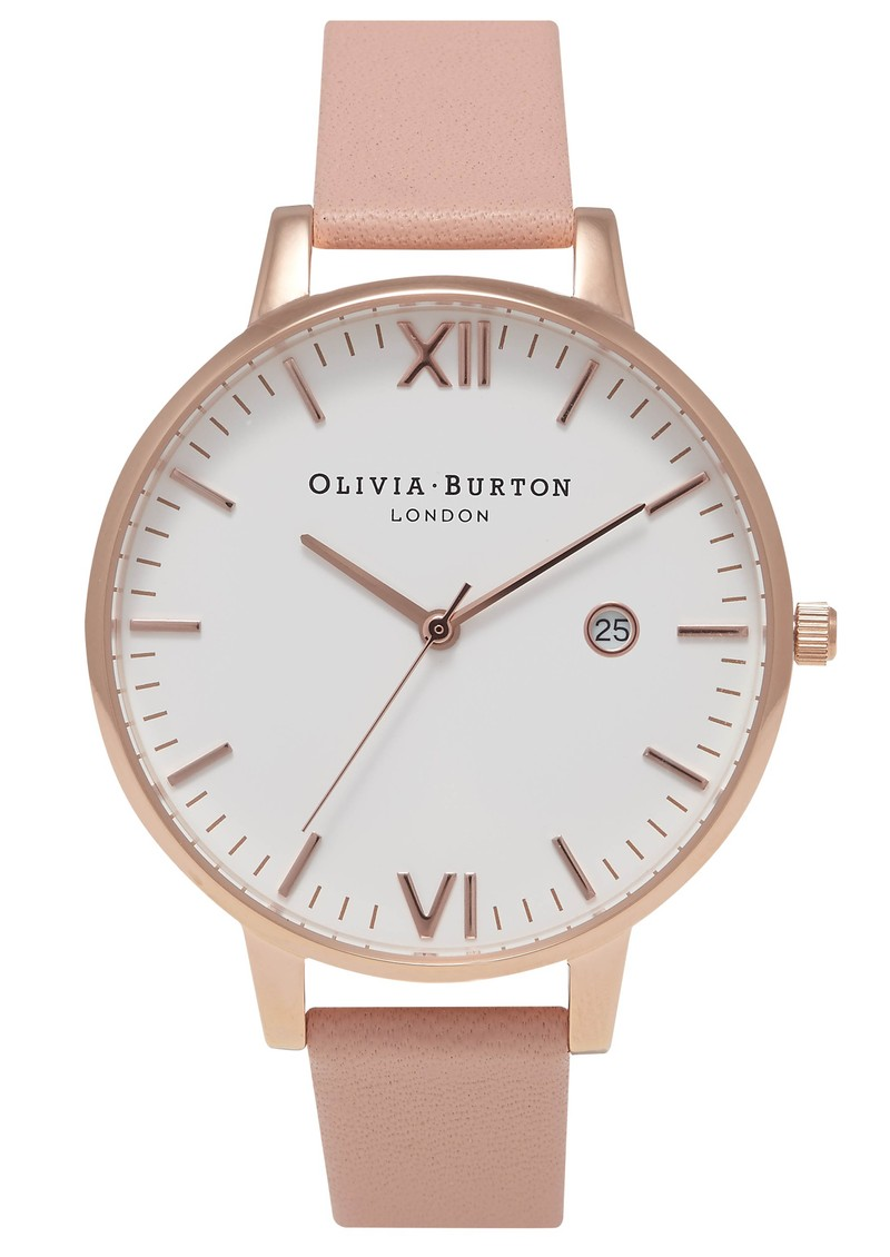Olivia Burton Timeless White Face Watch - Dusty Pink & Rose Gold main image