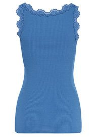 Rosemunde Silk Top with V Neck - Star Sapphire