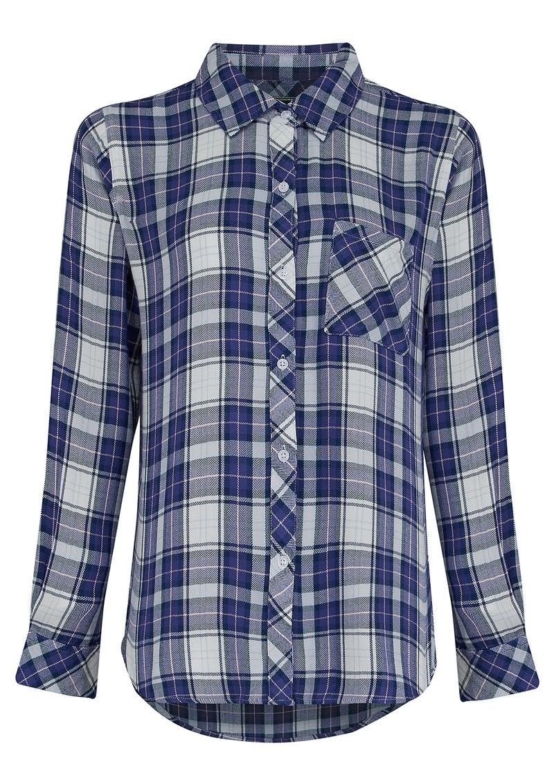 Rails Hunter Shirt - Peach & Lavender main image