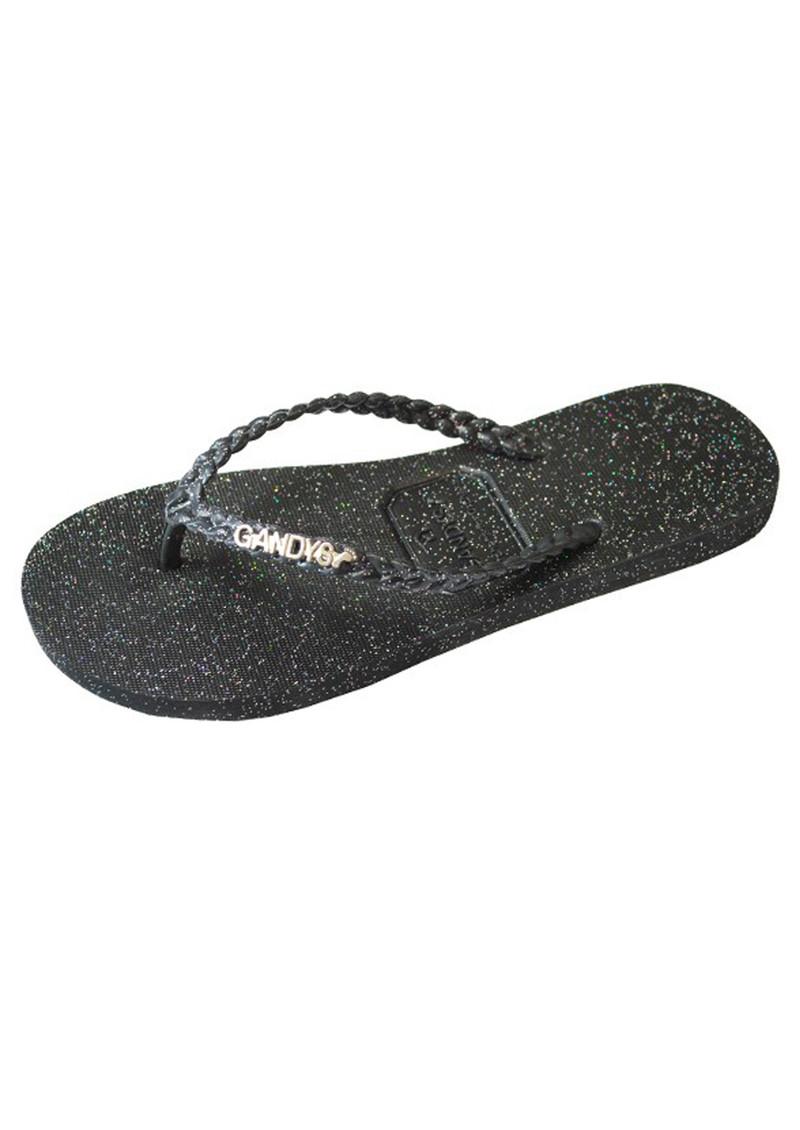 Lucita Adult Black Glitter Contrast Rhinestone Flip Flop Sandals Womens. Sold by Sophias Style Boutique Inc. $ Weboo Jelly Open Toe Slides Sequin Glitter Sparkle Flip Flops Sandals Black. Sold by shoeclub $ - $