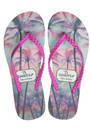 Palm Tree Paradise Filp Flops - Pink additional image
