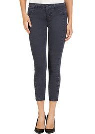 J Brand High Rise Suvi Skinny Jeans - Chrome