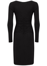 KAMALI KULTURE Long Sleeve Shirred Waist Dress - Black