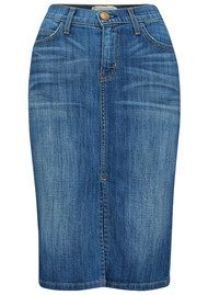 Current/Elliott High Waisted Denim Skirt - Waterfall