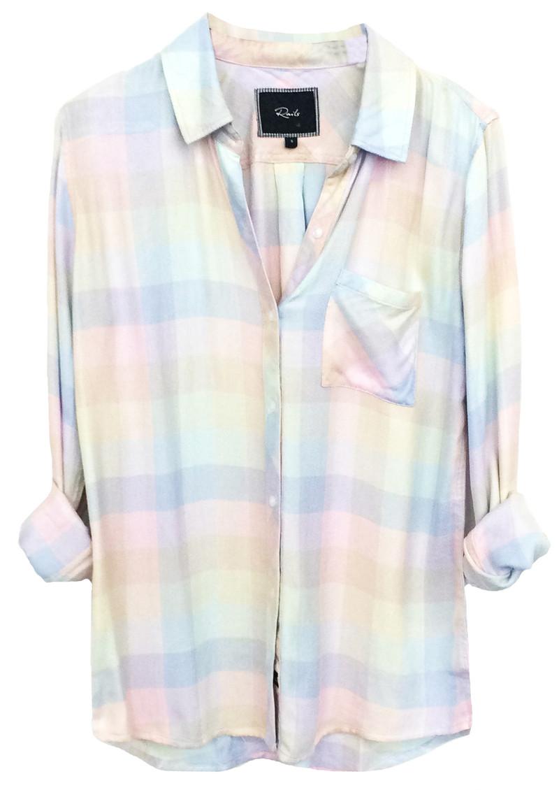 Rails Hunter Shirt - Rainbow Check main image