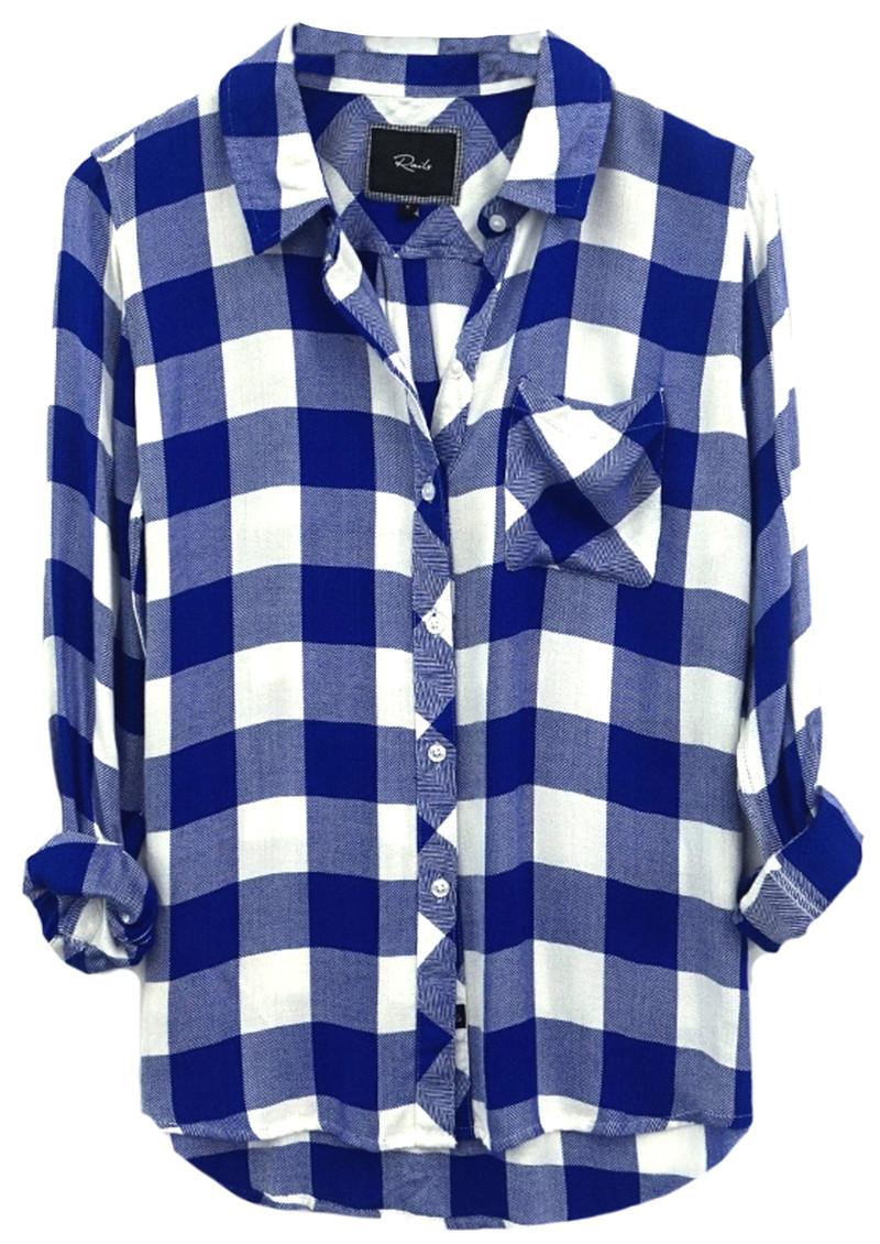 Rails Hunter Shirt - Cobalt Blue and White Check main image