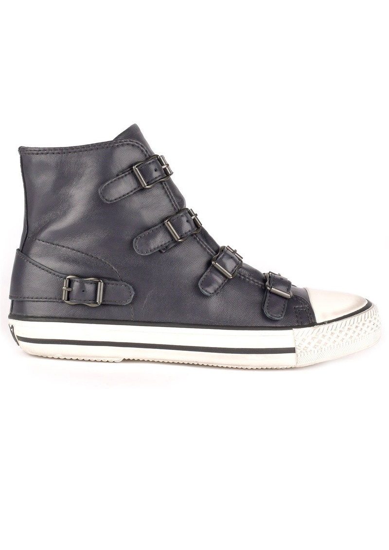 Ash Virgin Leather Buckle Trainers - Graphite main image
