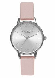 Olivia Burton Midi Dial Watch - Dusty Pink & Silver