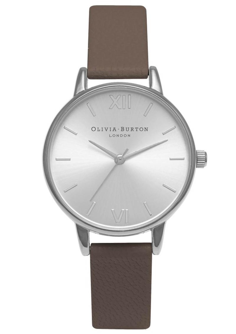 Olivia Burton Midi Dial Watch - Taupe & Silver main image