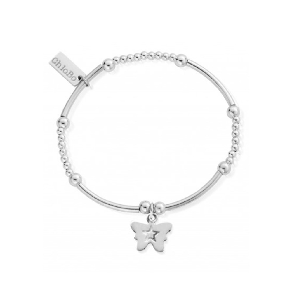 Cute Mini Butterfly Bracelet - Silver