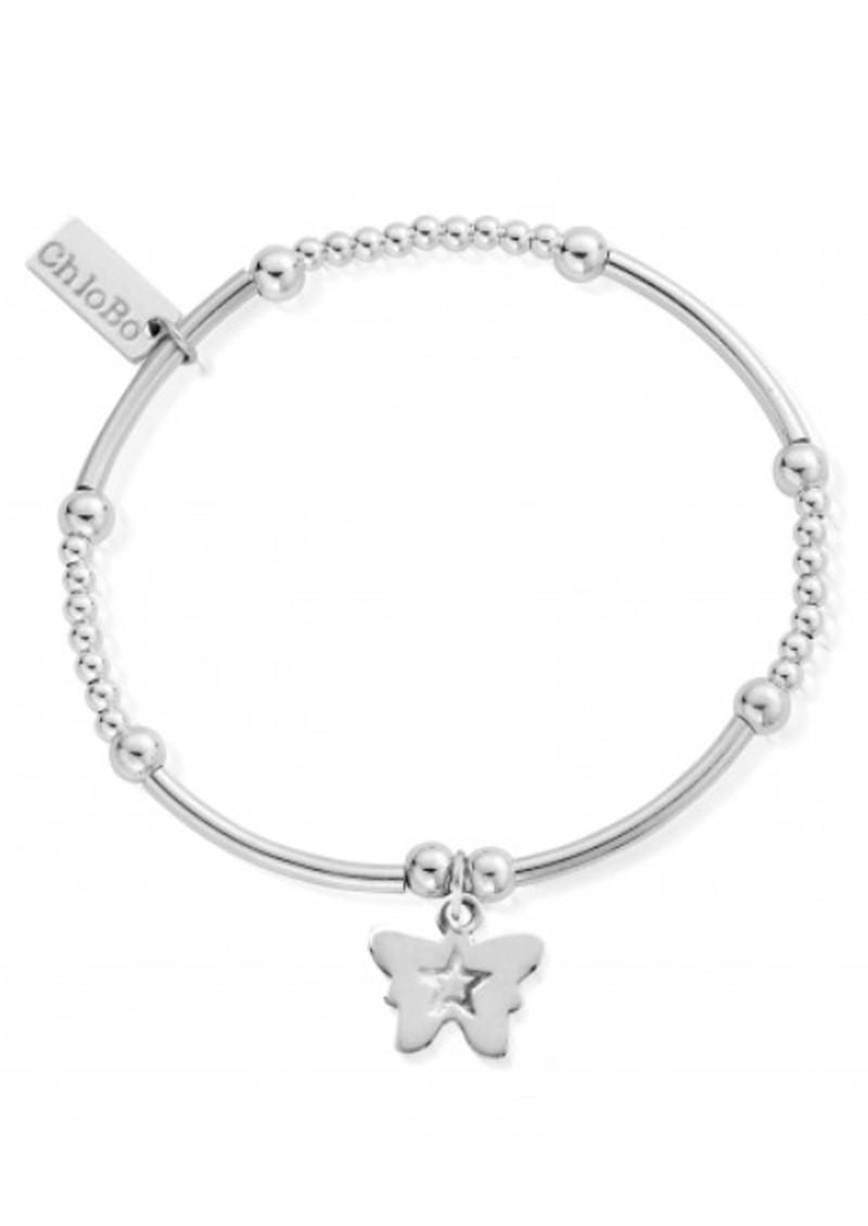 ChloBo Cute Mini Butterfly Bracelet - Silver main image