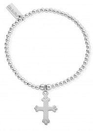 ChloBo Cute Charm Cross Bracelet - Silver