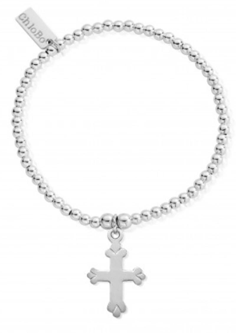 ChloBo Cute Charm Cross Bracelet - Silver main image