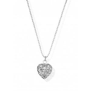 DIAMOND CUT CHAIN WITH FILIGREE HEART