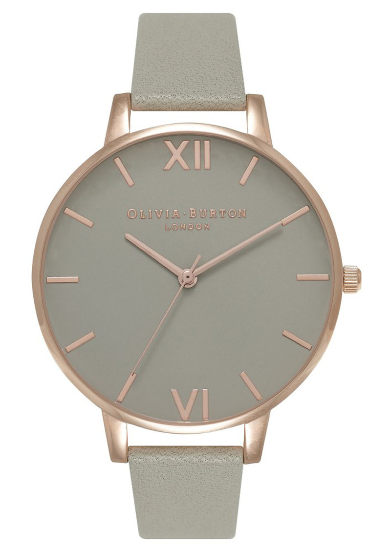Olivia Burton Big Grey Dial Watch - Grey & Rose Gold main image