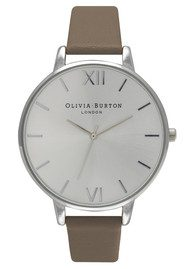 Olivia Burton Big Dial Watch - Taupe & Silver