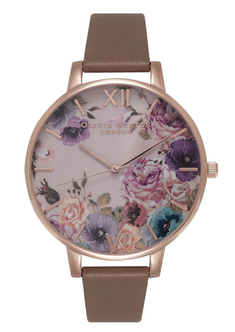 Olivia Burton Enchanted Garden Watch - Taupe & Rose Gold main image