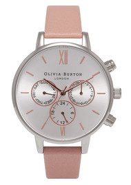 Olivia Burton Chrono Detail Watch - Dusty Pink, Silver & Rose Gold