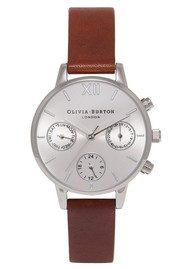 Olivia Burton Midi Chrono Detail Watch - Tan & Silver