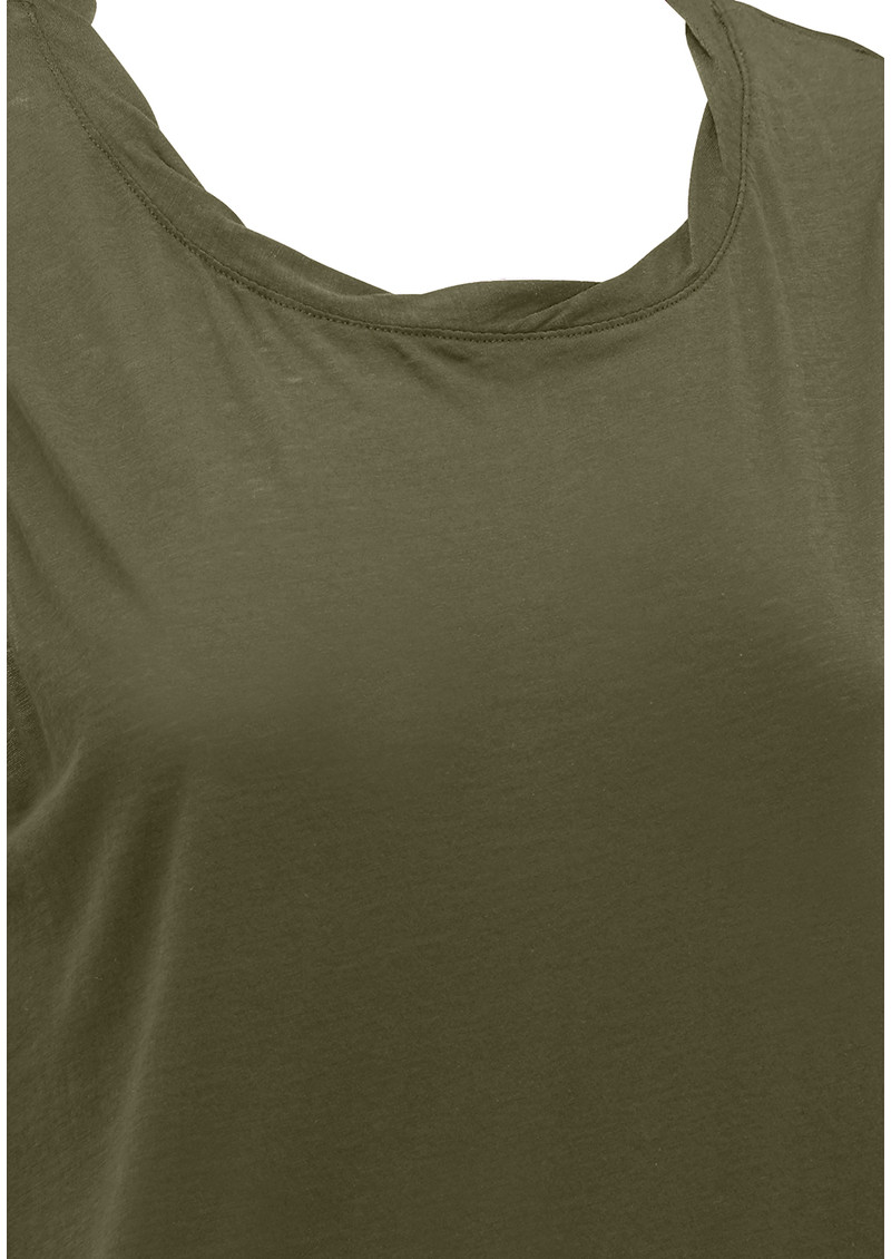 American Vintage Sand Sky Round Neck Cotton Tank - Military main image