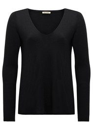 American Vintage Blossom Long Sleeve Sweater - Black