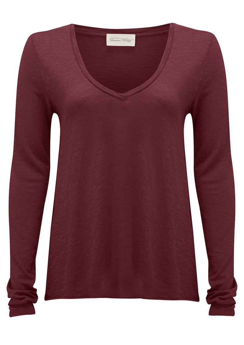 Jacksonville Long Sleeve Tee - Burgundy main image