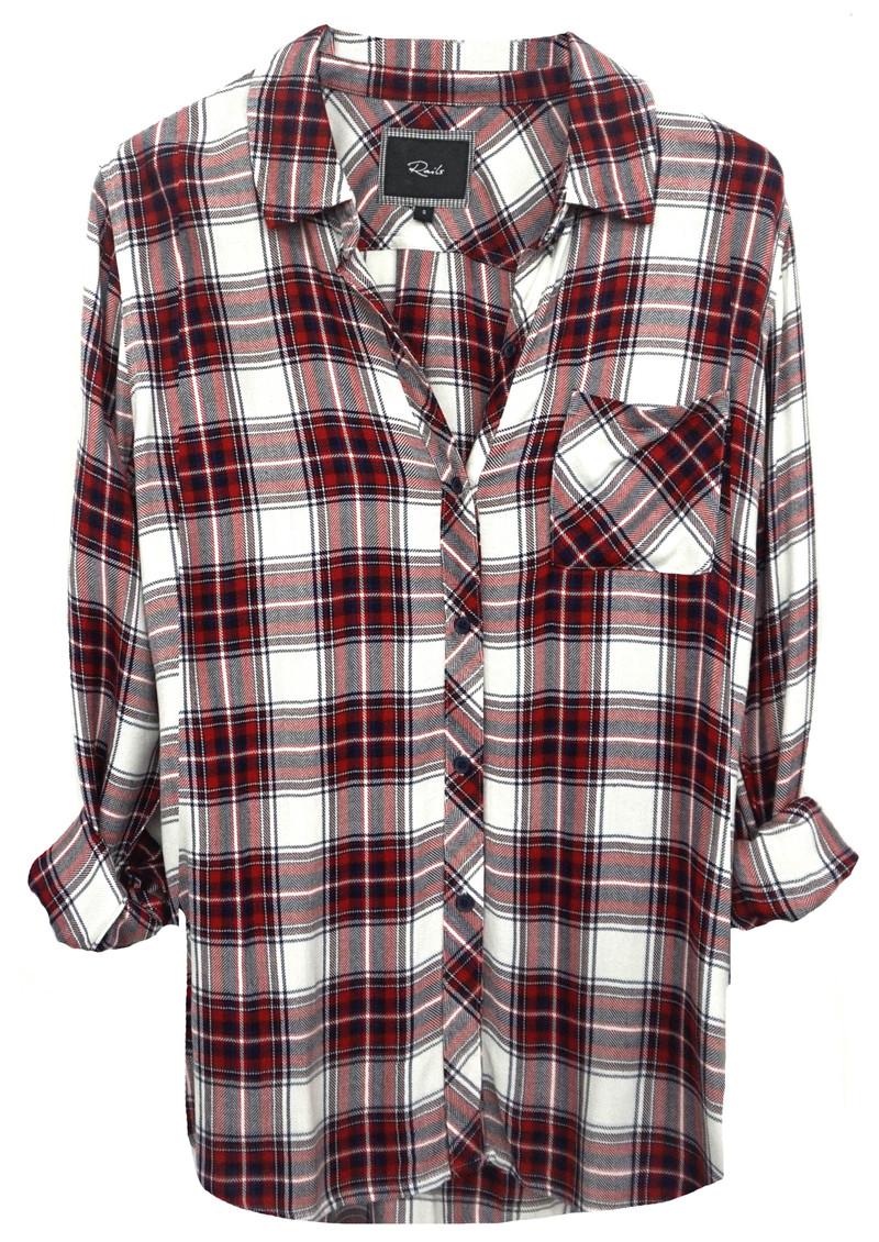 Rails Hunter Shirt - White & Garnet main image