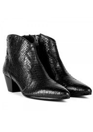 Ash Hurrican Python Scale Boots - Black