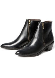 H By Hudson Azi Zip Ankle Boots - Black